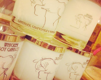 Beautiful organic soy scented candle 30cl with silver plated lid