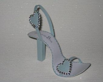 Something Blue shoe card
