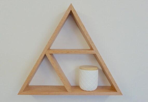 Triangle Wooden Shelf Geometric Shelf By