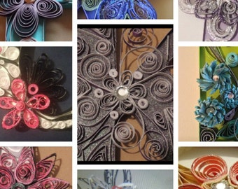 Quilled letter , quilled wall art, paper quilling, quilled letter examples only