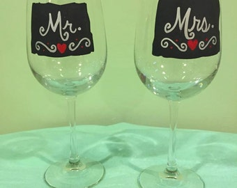 Hand painted wine glasses for all occasions