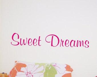 Sweet Dreams bedroom wall art sticker - by Createworks WA003X