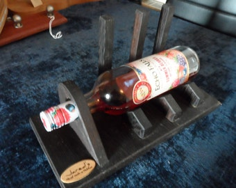 wenge wine bottle holder