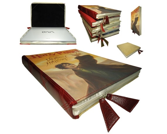 Macbook Air Old Book Cover : Macbook air book case harry potter laptop by