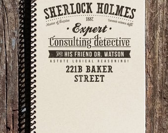 Sherlock Holmes Journal - Sherlock Holmes Notebook - Diary - Journal - Notebook - Sketchbook - Sherlock Holmes
