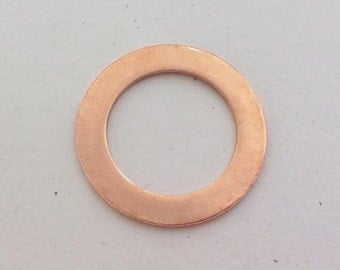 Copper Washer 1.25 inch 32mm Metal Hand Stamping Blank Disc 18g