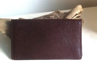 Vintage English Brown Leather Wallet