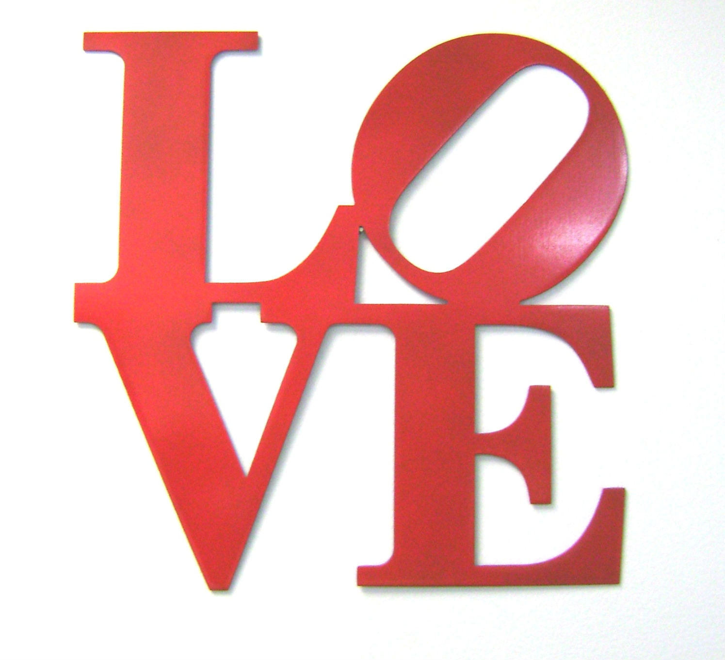 9 Love Metal Wall Sign In Red Same As Ny Philly Love
