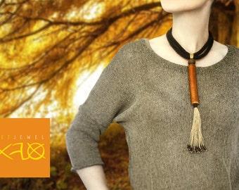 Eco necklace boho style