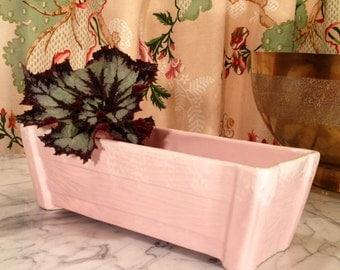 Fabulous '50s Pink Faux Bois Planter