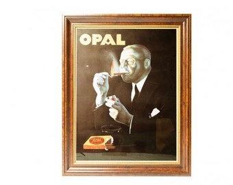 Oversized Framed Vintage French Opal Poster