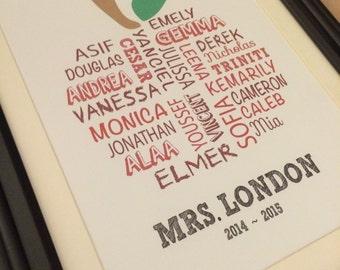 Teacher Gift, Class Apply Print