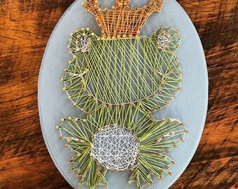 Froggy Prince String Art