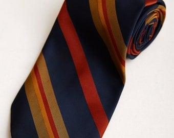 1960s Stradivari Park Lane Striped Neck Tie