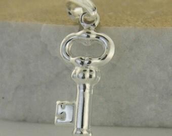 Key Necklace, Silver Key Pendent, Sterling Silver Key, Key Charm,Llave de Plata,Valentine Gift, Key of my Heart, Love protection charm, Key