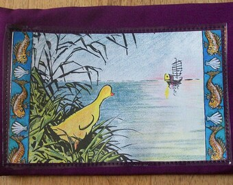 Ping Purse. FREE  Shipping! Zipper Pouch, Ping collage embellishment