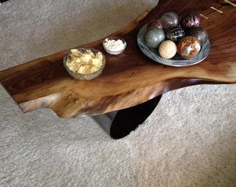 Dark walnut Live edge coffee table