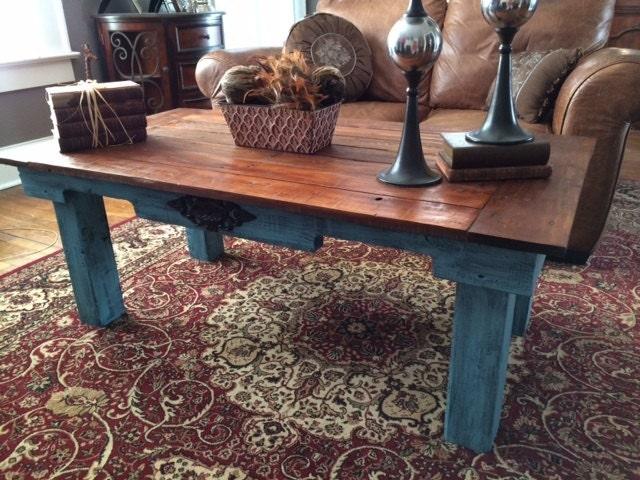 Coffee table repurposed pallet wood reclaimed wood table