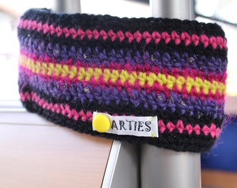 AUSVERKAUF! Ski Stirnband, Ohrenwärmer gutes, haltbares Material. Winddicht, Futter aus Polarfleece.  Earwarmer, crocheted. Bandeau du laine