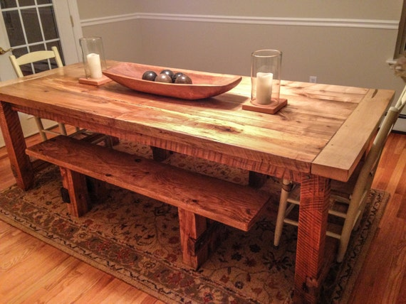 Post And Beam Farm Table Spalted Ambrosia By Northwoodsmarket