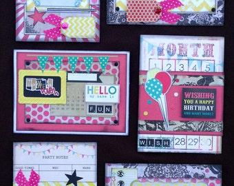 Happy Birthday Card Kit, Premade Birthday Cards, Handmade Card Kit, Handmade Birthday Card Kit, Pre-made Birthday Cards, All Occassion Cards
