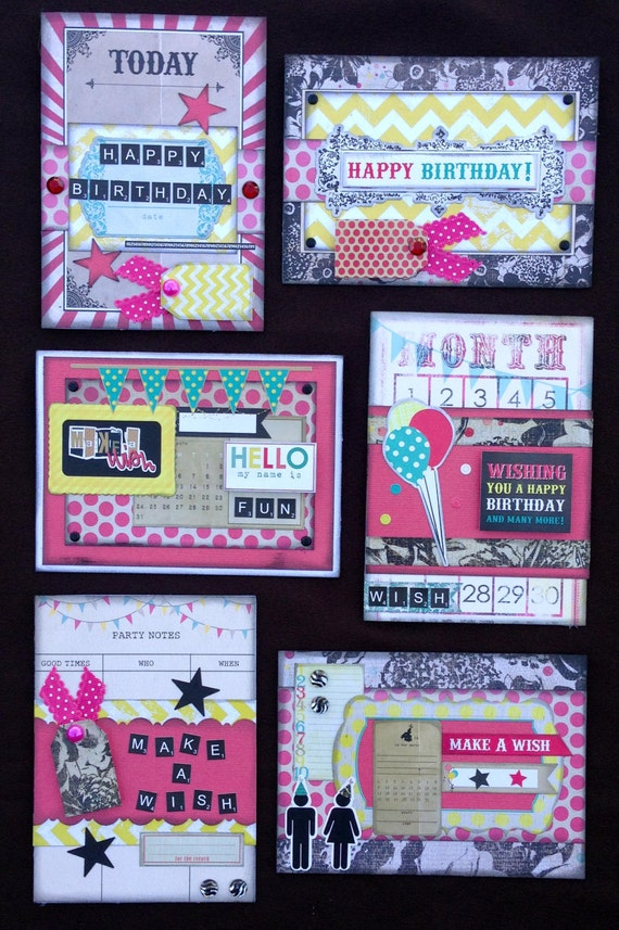 Happy Birthday Card Kit Premade Birthday Cards Handmade Card – Pre Made Birthday Cards