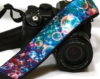 Bubbles Camera Strap. DSLR SLR Camera Strap. Multicolor Camera Strap. Camera Accessories