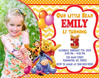 Winnie the Pooh Invitation Birthday Party