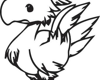 Chibi Chocobo Vinyl Decal - Final Fantasy Tactics