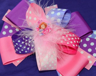 Princess Sofia Hair Bow