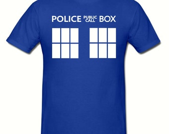 Police call box t shirt,mens t shirt sizes small- 2xl,fathers day gift,dad gift