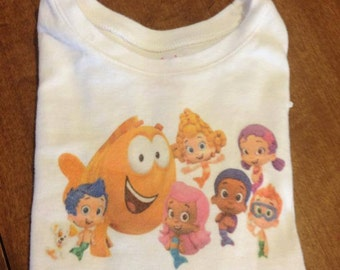 Bubble Guppies shirt with name personalized