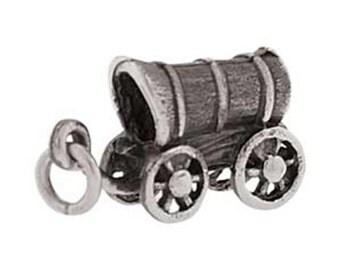 Pioneer Covered Wagon Trek Charm