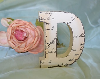 wood block letters decor