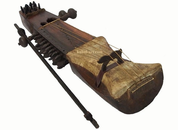 antique orient exotic musical instrument india by kabulgallery