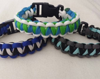Three color Twisted Cobra Bracelet