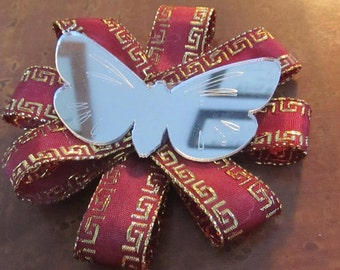 Mirrored Butterfly #2 loopy hairbow