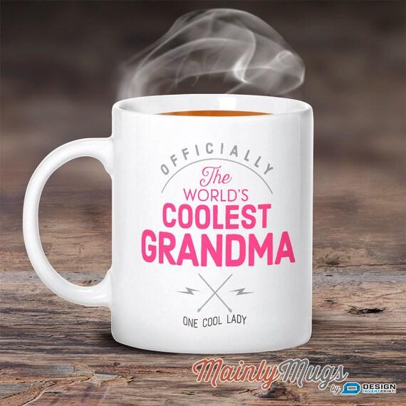 Cool Grandma Grandma Mug Birthday Gift For Grandma By MainlyMugs
