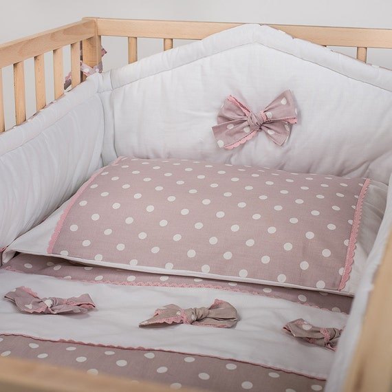 Pastel Nursery Bedding Sets: Pastel Pink Crib Bedding Baby Girl Nursery Bedding By