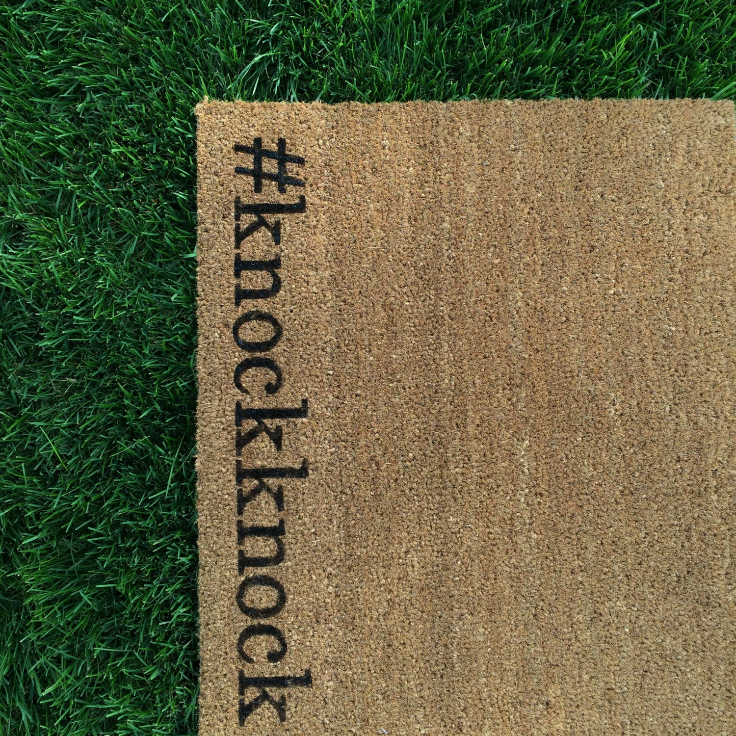 Welcome Mat Hand Painted Customizable Funny By