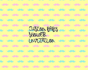 Custom baby shower invitation.