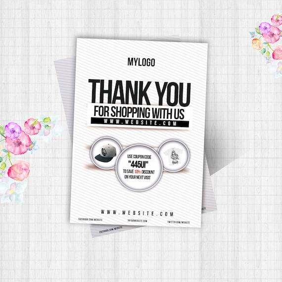 thank you flyer card template design for shop psd feedback flyer design coupon flyer thank. Black Bedroom Furniture Sets. Home Design Ideas
