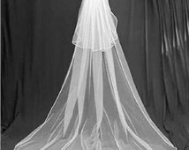 Cathedral Wedding veil 2 tiers Dramatic look