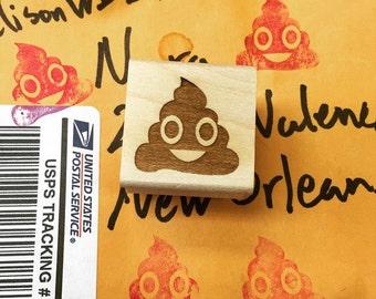 Poop Emoji Stamp