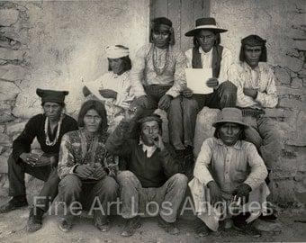 "Adam Clark Vroman Photo, ""Men of Sichimovi"" 1901, Native Americans"