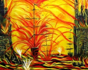 Original Art - To Glory - 1m x 1m