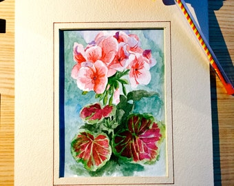 Watercolor painting (with frame as shown)