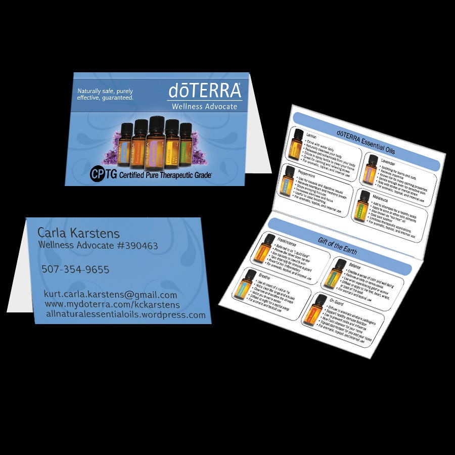 Doterra Wellness Advocate Business Cards Am O Business