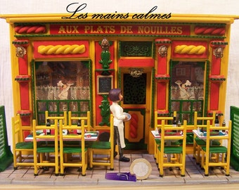 Restaurant miniature. Exemplaire unique