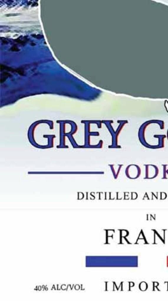 Grey Goose Label | www... Grey Goose Bottle Label
